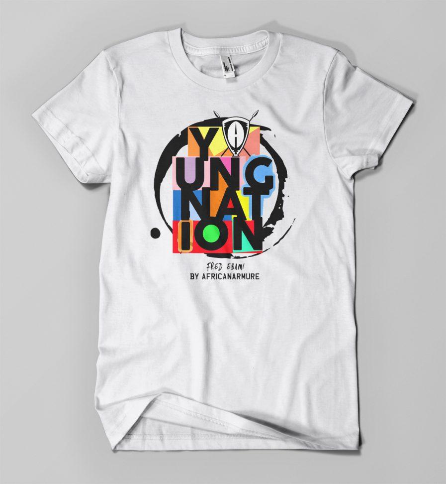 T-shirt EBAMI EMOTICONES blanc - Young Nation