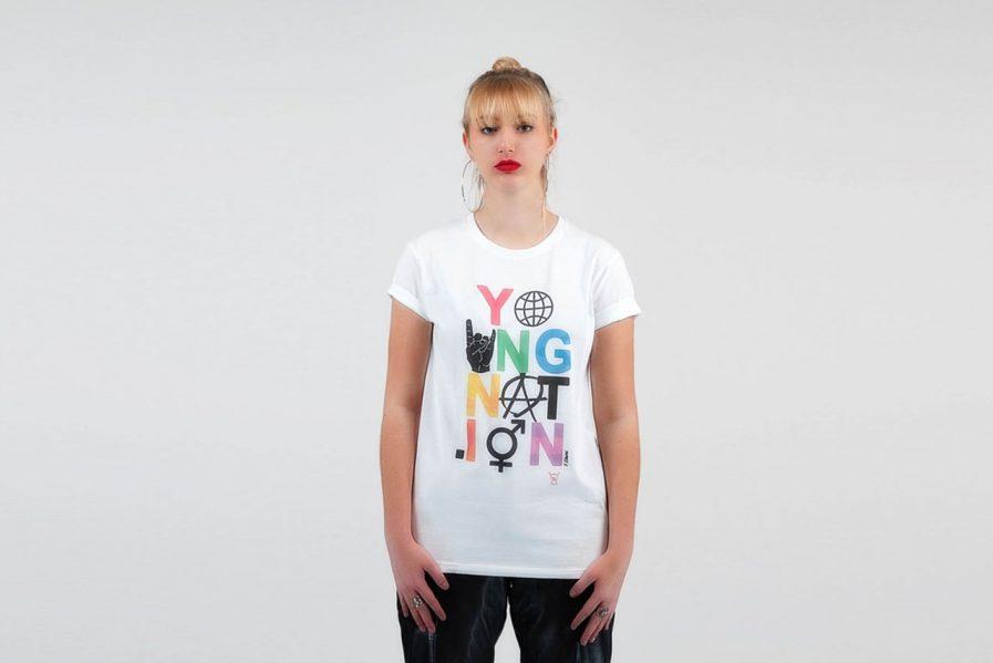 T-shirt EBAMI EMOTICONES blanc - Young Nation 1