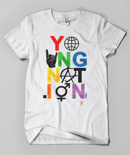 T-shirt EBAMI EMOTICONES blanc - Young Nation