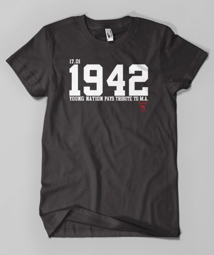 T-shirtTRIBUTE1942 M.A. noir - Young Nation
