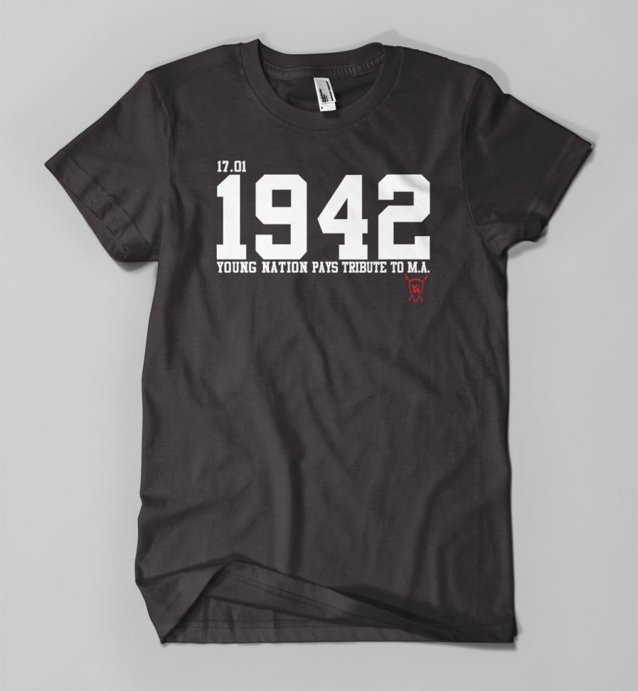 T-shirt TRIBUTE 1942 M.A. noir - Young Nation
