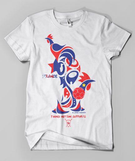 T-shirt Coupe du Monde France blanc - Young Nation