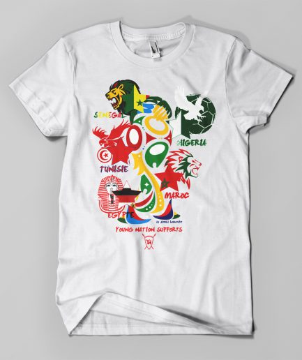 T-shirt Coupe du Monde Afrique blanc - Young Nation