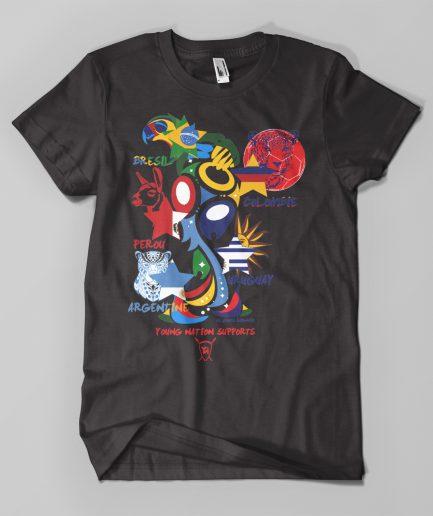 T-shirt Coupe du Monde Amériques noir - Young Nation