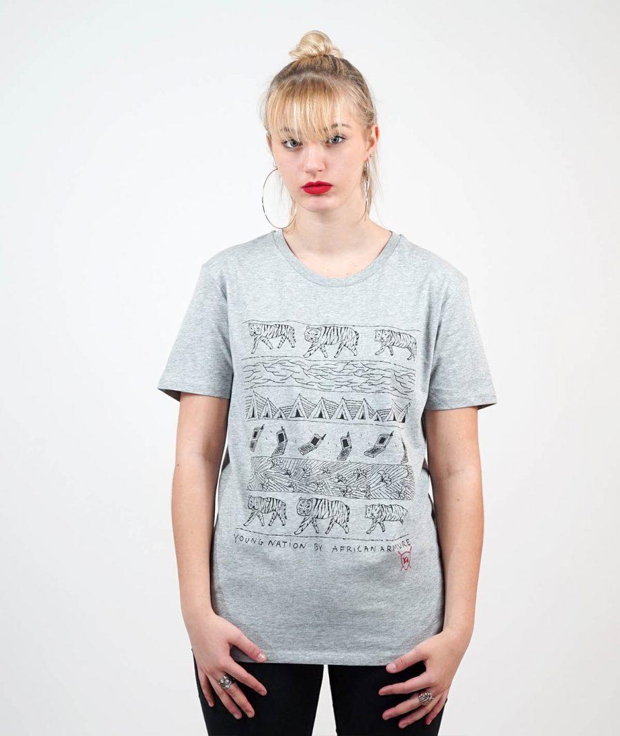 T-shirt Soumala Village gris - Young Nation 1